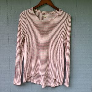 Madewell Red White Striped Long Sleeve Tee Small